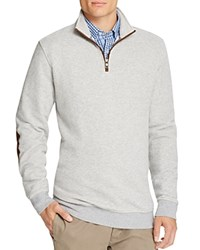 Brooks Brothers Pique Birdseye Half Zip Sweater Grey