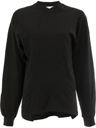 Aganovich Reconstructed Long Sleeved T Shirt Cotton L Black