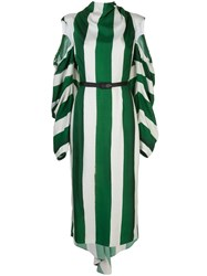 Hellessy Cut Out Sleeve Striped Dress 60