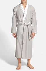 Men's Majestic International Fleece Lined Robe Grey Dove Grey