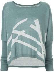 Taylor Loose Fit Intersect Sweatshirt Blue