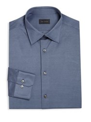 Pal Zileri Regular Fit Solid Knit Shirt Periwinkle Blue
