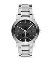 Burberry Mens The City Stainless Steel Watch Silver