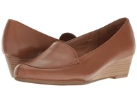 Aerosoles Lovely Dark Tan Leather Women's Flat Shoes Brown