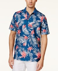 Tasso Elba Men's Big And Tall Paradise Floral Print Polo Only At Macy's