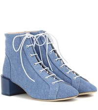 Acne Studios Mable Denim Ankle Boots Blue