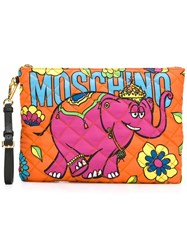 Moschino Crowned Elephant Clutch