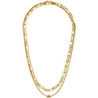Alexander Wang Gold Double Chain Necklace