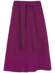 Egrey Belted Midi Skirt Pink And Purple