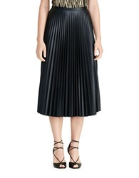 Lauren Ralph Lauren Petite Pleated Midi Skirt Black