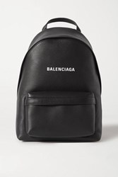 Balenciaga Everyday Printed Textured Leather Backpack Black