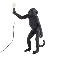 Seletti Monkey Lamp Standing Black
