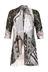 Izabel London Patchworked Loose Over Cardigan Multi Coloured Multi Coloured