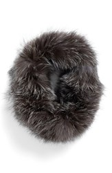 Dena Women's Genuine Fox Fur Cowl Collar Grey