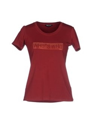 Who S Who T Shirts Brick Red