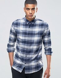 Selected Homme Flannel Check Shirt Blue Check