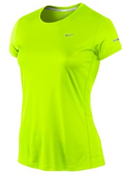 Nike Miler Running Top Yellow