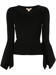 Michael Kors Collection Flared Sleeve Top Black