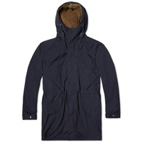 Aspesi Garment Dyed Teddy Lined Parka Navy