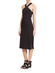 Rag And Bone Rachel Cutout Halter Dress Black