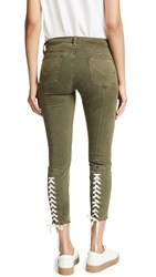 Hudson Nico Lace Up Skinny Pants Crushed Olive
