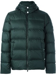 Michael Kors Hooded Puffer Jacket Green