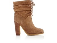 Chloe Women's Suede Slouchy Ankle Boots Brown Tan