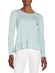Rebecca Taylor Linen Jersey Tee Sage Tint
