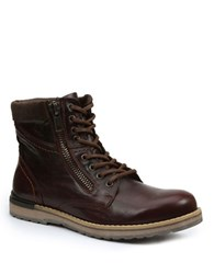 Gbx Dern Leather Zip Boots Brown