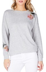 Michael Stars Reversible Crewneck Sweatshirt Heather Grey