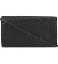 Vince Multi Functional Leather Pouch Black