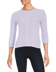 Lord And Taylor Cableknit Sweater African Violet