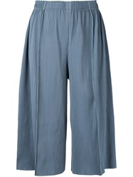 Issey Miyake Cauliflower A Poc Pleats 3 Cropped Wide Pants Women Polyester One Size Grey