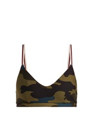 The Upside Army Camouflage Print Sports Bra Camouflage