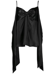 Maison Martin Margiela Mm6 Draped Slip Vest Black