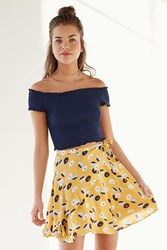 Kimchi And Blue Kimchi Blue Printed Ballet Wrap Mini Skirt Yellow