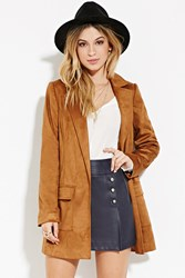 Forever 21 Belted Faux Suede Coat