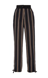 Tome Silk Cotton Skinny Pants Stripe