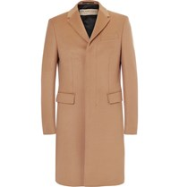 Burberry Virgin Wool And Cashmere Blend Overcoat Brown