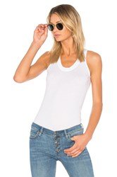Monrow Jersey Narrow Tank White