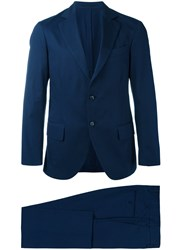 Massimo Piombo Mp Unconstructed Single Breasted Two Piece Suit Men Cotton Viscose 50 Blue