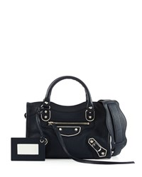 Balenciaga Metallic Edge Nickel City Bag Blue Royal Blue