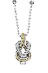 Women's Lagos 'Newport' Diamond Knot Pendant Necklace
