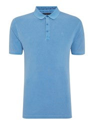 Criminal Chase Pique Short Sleeved Polo Shirt Blue