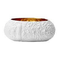 L'objet Mojave Dessert Bowl Medium White And Gold