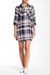 Jack Long Sleeve Plaid Shirt Dress Multi