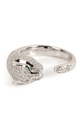 Anita Ko 18Kt White Gold Cougar Ring With Diamonds
