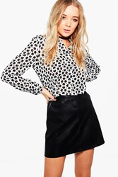 Boohoo Hazel Circle Print Shirt White