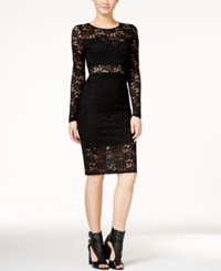 Material Girl Juniors' Lace Illusion Bodycon Dress Only At Macy's Black