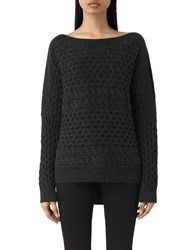 Allsaints Reed Boat Neck Jumper Cinder Black